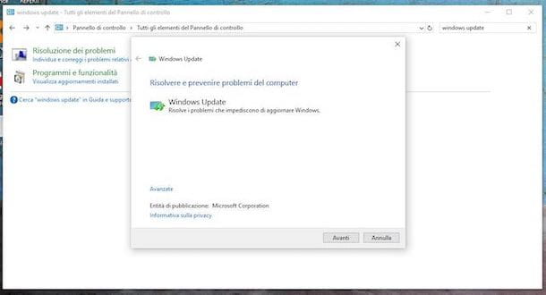 Risoluzione problemi di Windows Update