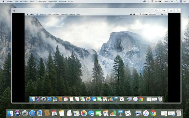 Registrazione schermo Mac