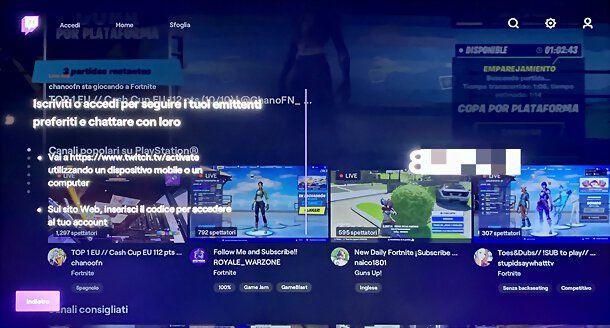 Twitch su PS4