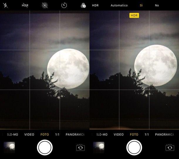 Attivare HDR su iPhone