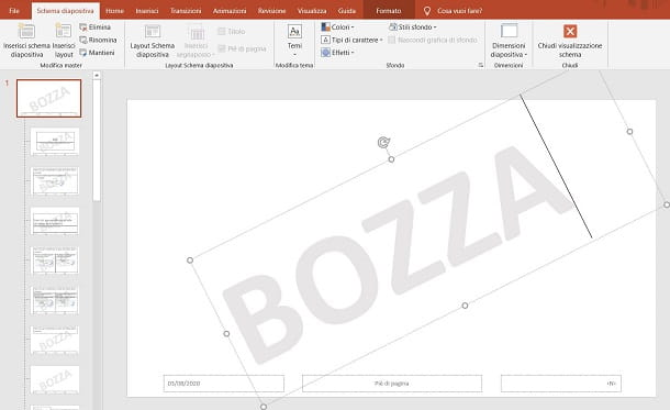 Bozza su PowerPoint