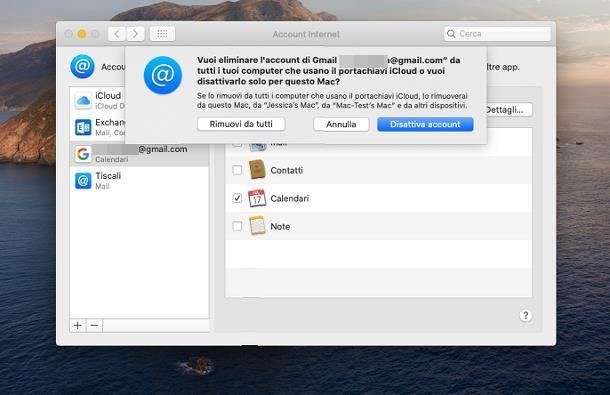 Come eliminare un account Google dal Mac