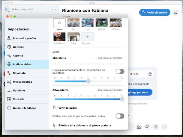 Attivare microfono Skype PC