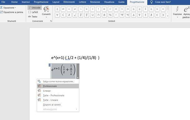 Copiare formule matematiche su Word