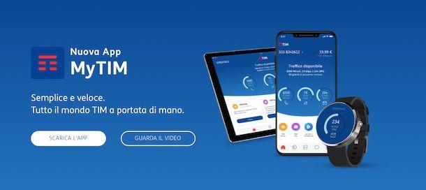 Telecom assistenza email app MyTIM