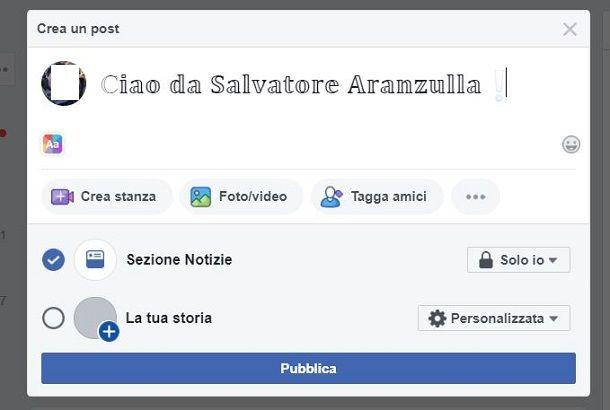 Come cambiare font su Facebook