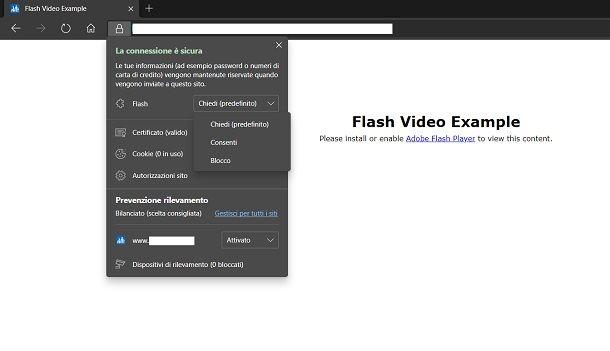 Abilitare Flash Player su Edge