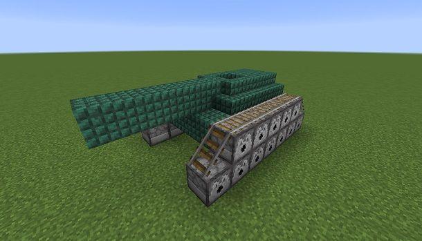 Progetto di Carro armato su Minecraft