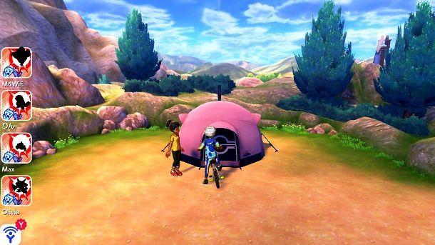 Tenda per Pokecampeggio nel Percorso 3 di Pokémon Scudo