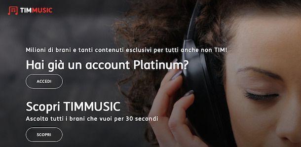 Contattare via email Telecom per assistenza TIMMUSIC