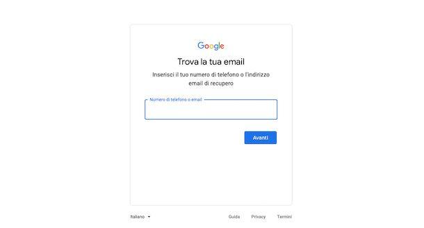 Recuperare Gmail