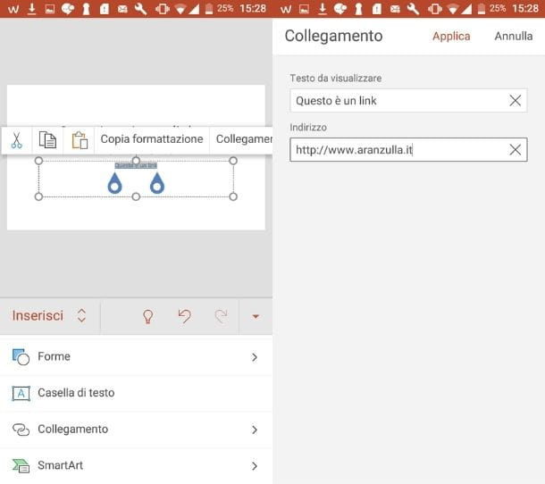 Link PowerPoint smartphone e tablet