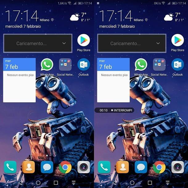 Registrazione schermo Android