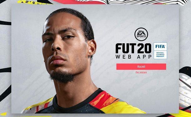 Come entrare Web App FIFA