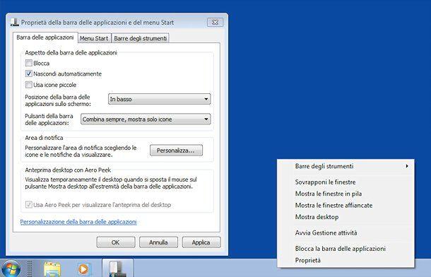 Cómo ocultar la barra de tareas en Windows 7