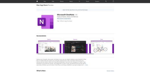 Scaricare One Note per Windows o Mac