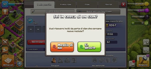 Ricerca clan Clash of Clans