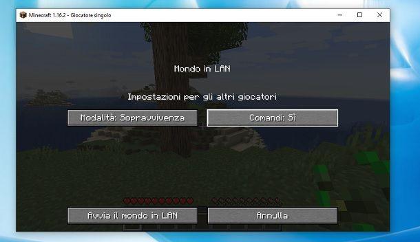 Comandi Minecraft Sopravvivenza