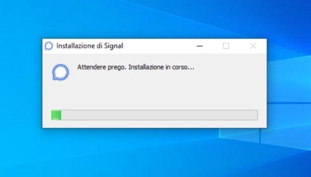 Installazione di Signal su Windows