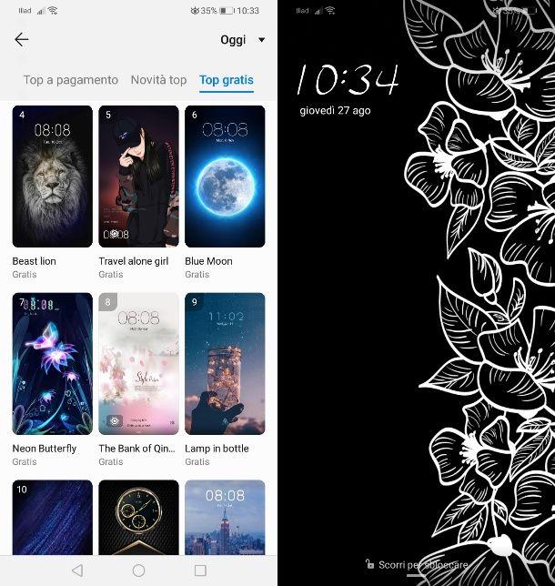 Cambiare tema Huawei