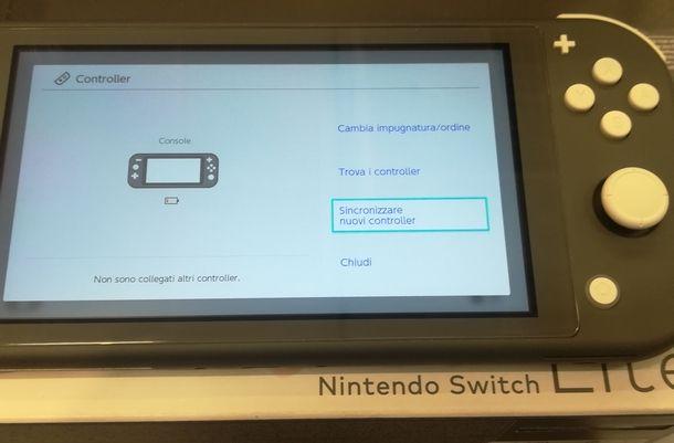 Resettare la sincronizzazione dei Joy-Con anche con Nintendo Switch Lite