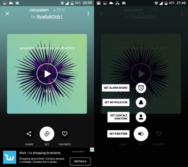 Suoneria personalizzata Android