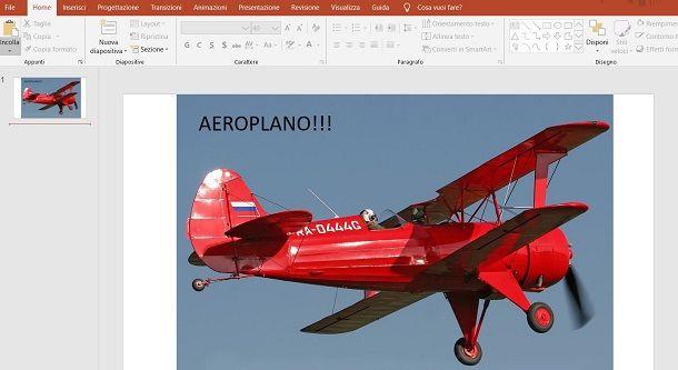 Testo su Immagini in PowerPoint