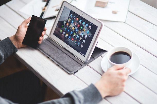 Inserire immagine da smartphone e tablet