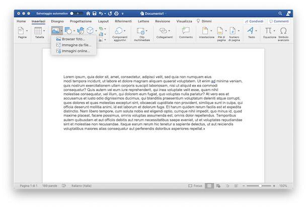 Inserire immagine su PC