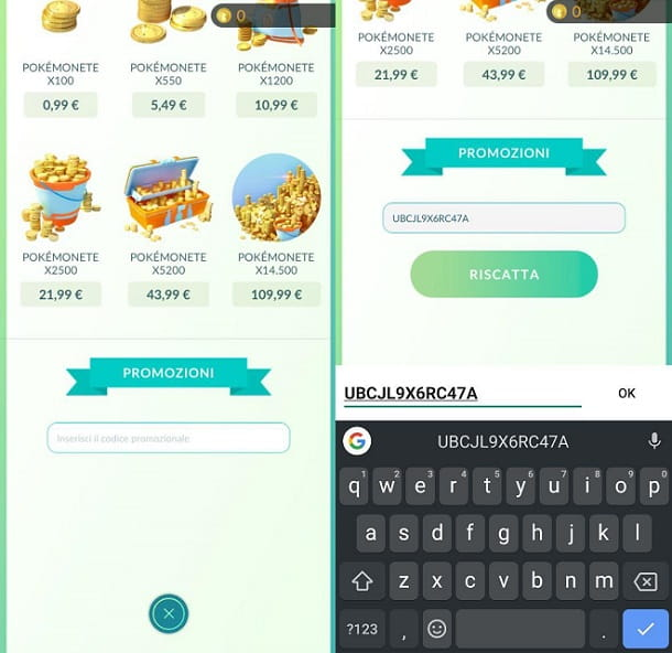 Codici Pokemon GO Android