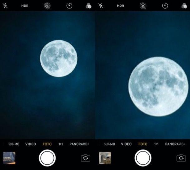 Zoom digitale iPhone