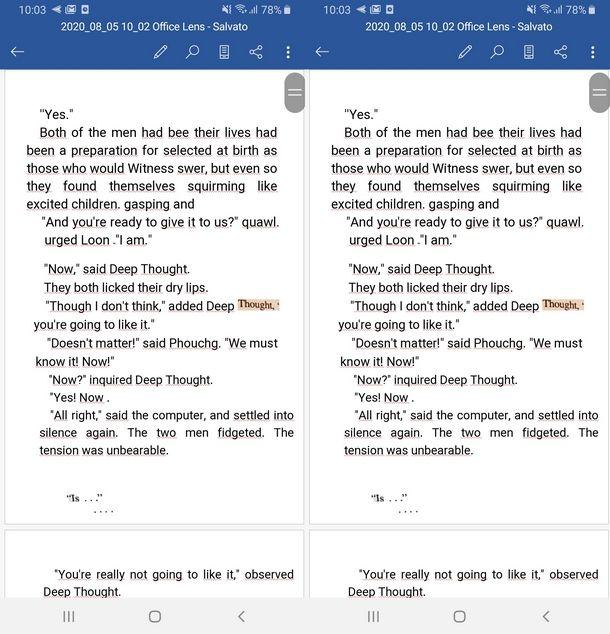Importare il testo di una foto in Microsoft Word