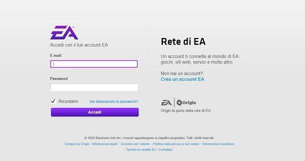 Accedi FIFA Web App