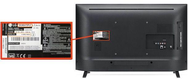 Codice TV LG