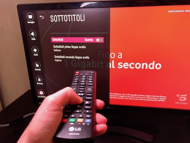 Sottotitoli TV LG