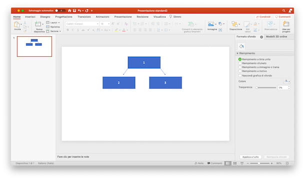 Mappa concettuale PowerPoint