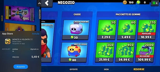 Come shoppare su Brawl Stars da iOS