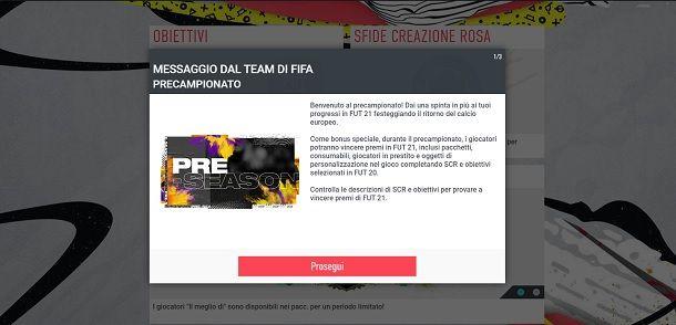 Precampionato FIFA 21