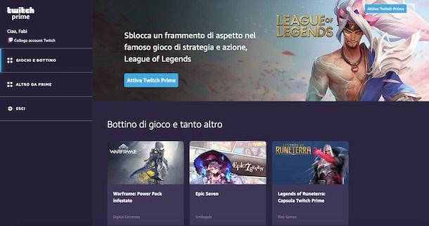 Twitch Prime con Amazon Prime