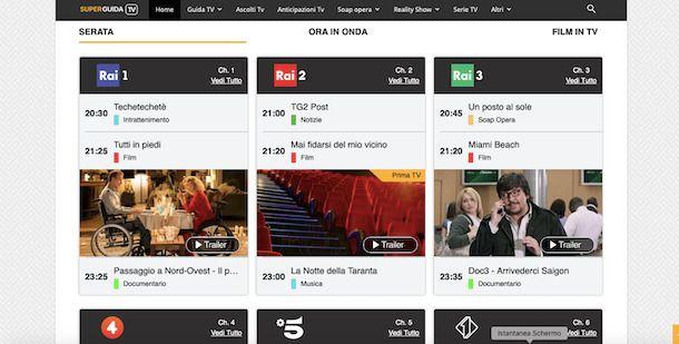 SuperGuidaTV sito Web