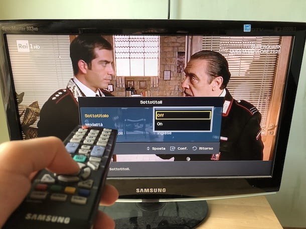 Sottotitoli TV Samsung