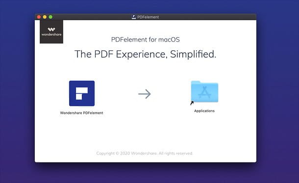 Installazione di Wondershare PDFelement su Mac