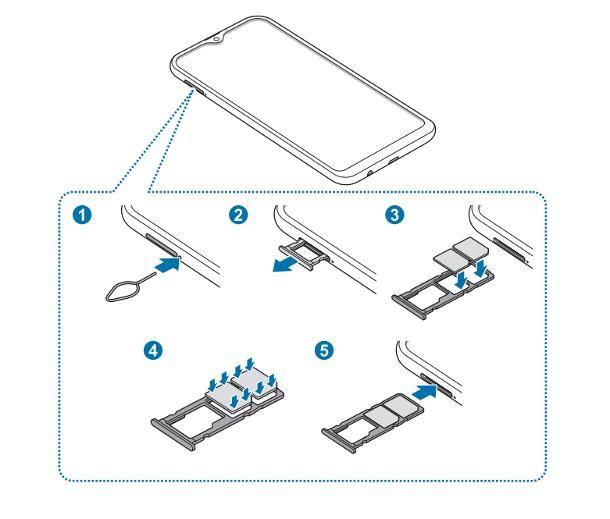 Come inserire SIM Samsung A10