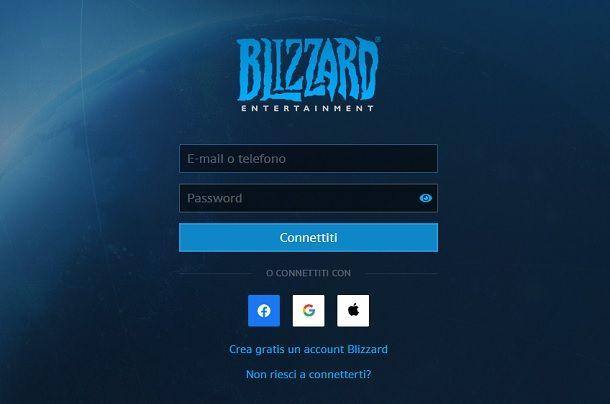 Login Blizzard