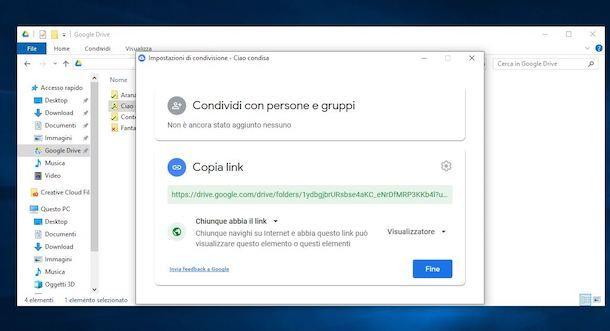 Condividere una cartella su Google Drive da Windows