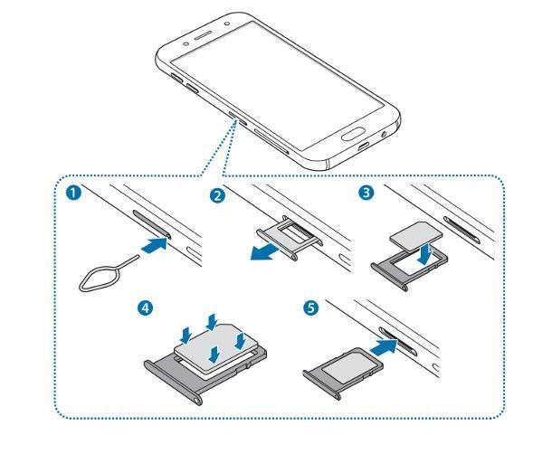 Come inserire SIM Samsung J5