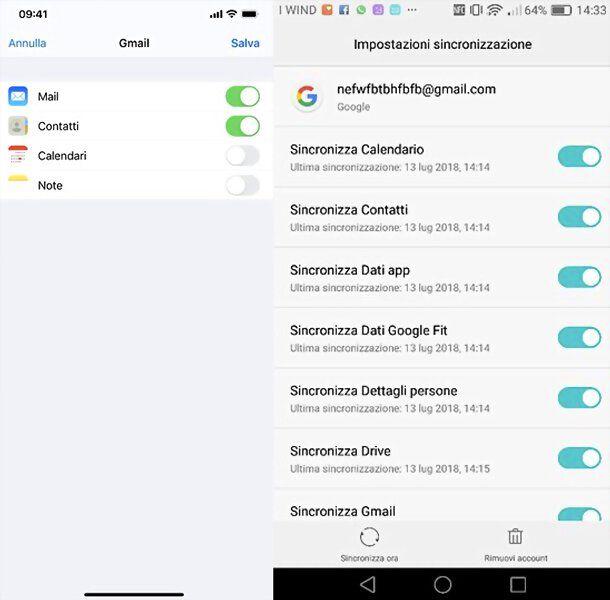 Sincronizzazione Google iPhone e Android
