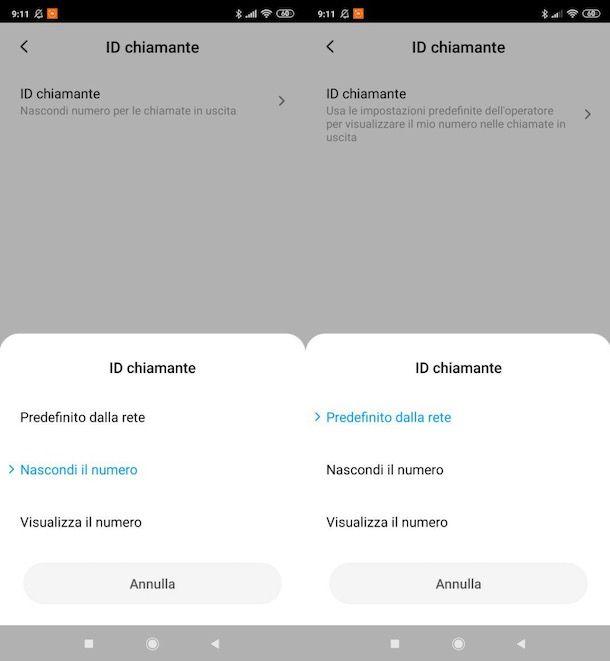 Togliere privato su Android
