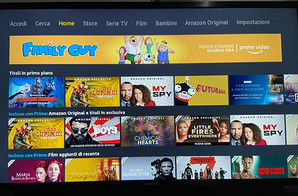 Amazon Prime Video Smart TV