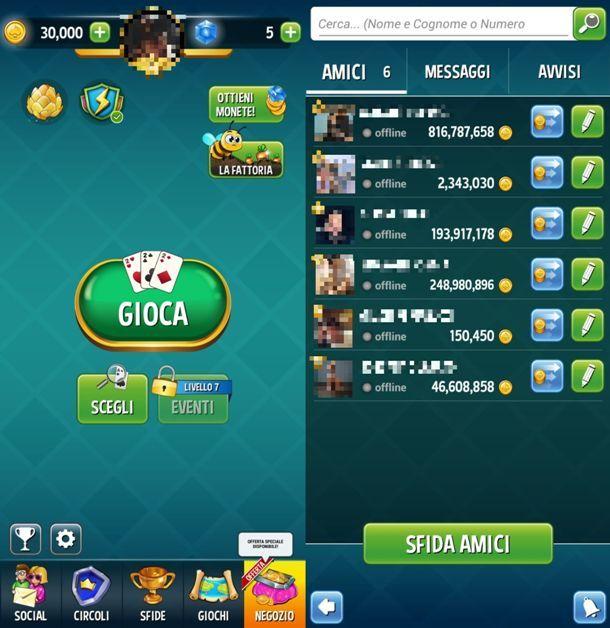 Giocare a Burraco su smartphone Android